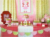 Strawberry Shortcake Birthday Party Decorations Kara 39 S Party Ideas Strawberry Shortcake themed First