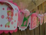 Strawberry Shortcake Happy Birthday Banner Modern Strawberry Shortcake Happy Birthday Banner