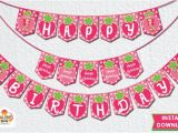 Strawberry Shortcake Happy Birthday Banner Strawberry Shortcake Happy Birthday Banner by Salenssvr On