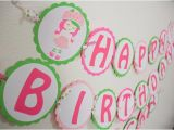 Strawberry Shortcake Happy Birthday Banner Strawberry Shortcake Happy Birthday by Lockandkeyglamourie