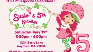 Strawberry Shortcake Personalized Birthday Invitations Strawberry Shortcake Personalized Birthday Invitations