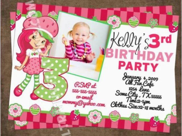 Strawberry Shortcake Personalized Birthday Invitations