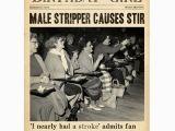 Stripper Birthday Cards Birthday Card Pigment Male Stripper