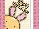 Super Funny Birthday Cards Bunny Super Fun Happy Birthday Card Fuzzballs the