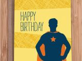 Super Funny Birthday Cards Funny Birthday Card Super Guy for Him