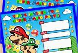 Super Mario Birthday Invitations Printable Free Free Printable Super Mario Bros Birthday Party Invitation