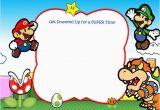 Super Mario Birthday Invitations Printable Free Free Printable Super Mario Bros Invitation Template Free