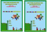 Super Mario Birthday Invitations Printable Free Super Mario Birthday Invitations Birthday Printable