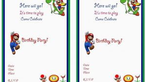 Super Mario Birthday Invitations Printable Free Super Mario Birthday Invitations Birthday Printable