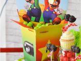 Super Mario Bros Birthday Decorations Kara 39 S Party Ideas Super Mario Bros themed Birthday Party