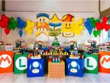 Super Mario Bros Birthday Decorations Kara 39 S Party Ideas Super Mario Brothers Birthday Party Via