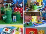Super Mario Bros Birthday Decorations Kara 39 S Party Ideas Super Mario Party Planning Ideas Cake