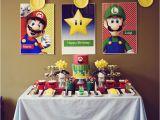 Super Mario Bros Birthday Decorations Mario Bros Party Cake Paper Party