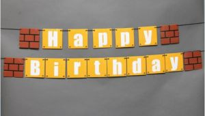 Super Mario Bros Happy Birthday Banner Super Mario Happy Birthday Banner by Marianelascrafts On Etsy