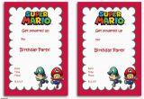 Super Mario Brothers Birthday Invitations Free Printable Super Mario Bros Invitation Template Free