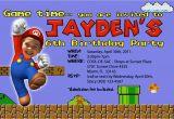 Super Mario Brothers Birthday Invitations Super Mario Birthday Invitations Bagvania Free Printable