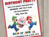 Super Mario Brothers Birthday Invitations Super Mario Bros Diy Printable Birthday Invitation by Carta