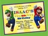 Super Mario Brothers Birthday Invitations Super Mario Brothers Birthday Invitation Printable