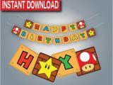 Super Mario Happy Birthday Banner Best 25 Mario Birthday Banner Ideas On Pinterest Super