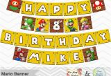 Super Mario Happy Birthday Banner Printable Super Mario Banner Printable Super Mario Inspired