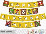 Super Mario Happy Birthday Banner Printable Super Mario Banner Printable Super Mario Inspired