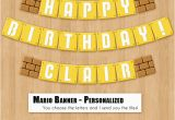 Super Mario Happy Birthday Banner Super Mario Bros Birthday Banner Printable