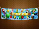 Super Mario Happy Birthday Banner Super Mario Bros Happy Birthday Banner 6×2