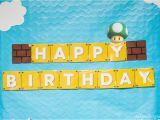 Super Mario Happy Birthday Banner Super Mario Party Recap with Free Printables Mkkm Designs