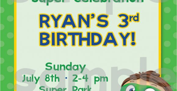 Super why Birthday Invitations Diy Printable Super why Birthday Invitation