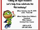 Super why Birthday Invitations Items Similar to Super why Birthday Invitation On Etsy