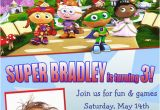 Super why Birthday Invitations Personalized Photo Invitations Cmartistry Super why