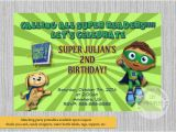 Super why Birthday Invitations Super why Birthday Invitations Super Readers Birthday Party