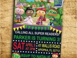 Super why Birthday Invitations Super why Birthday Party Invitation Digital by