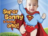 Superhero 1st Birthday Invitations Baby Superman Invitation with Your Little Boy as Super