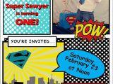 Superhero 1st Birthday Invitations Moucha Cafe Superhero 1st Birthday