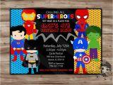Superhero 1st Birthday Invitations Superhero Invitation Superhero Invitation Superhero Invitation