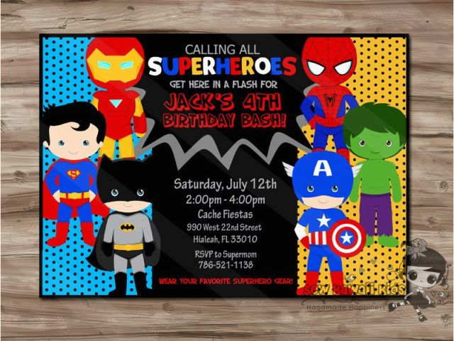 Download By SizeHandphone Tablet Desktop Original Size Back To Superhero 1st Birthday Invitations