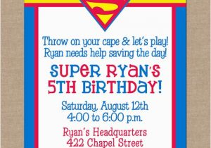 Superhero Birthday Invitation Wording 25 Best Ideas About Superman Invitations On Pinterest