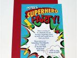 Superhero Birthday Invitation Wording Personalised Superhero Party Invitations by Bonnie