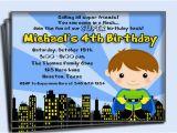 Superhero Birthday Invitation Wording Superhero Birthday Invitation Printable or Printed with Free