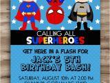 Superhero Birthday Invitation Wording Superhero Birthday Invitation Superhero by Kawaiikidsdesign