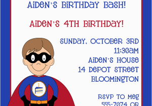 Superhero Birthday Invitation Wording Invitations