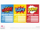 Superhero Birthday Invitations Free Free Superhero Party Printables Catch My Party