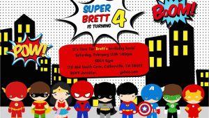 Superhero Birthday Invitations Free Greygrey Designs My Parties Brett 39 S Superhero 4th