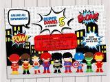Superhero Birthday Invitations Free Super Hero Birthday Party Pop Art Superhero Invitation
