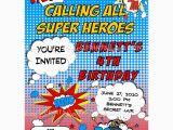 Superhero Birthday Invitations Free Superhero Comic Printable Invitation Dimple Prints Shop
