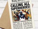 Superhero Newspaper Birthday Invitations Daily Planet Superhero Newspaper Birthday Invitation Captain