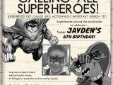 Superhero Newspaper Birthday Invitations Super Hero Birthday Invitation Newspaper Superhero