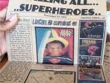 Superhero Newspaper Birthday Invitations Superhero Inspired Newspaper Invitation Digital