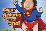 Superman 1st Birthday Invitations 29 Best 1st Birthday Invitation Baby Superheroes Images